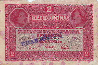 2 Korona/kronen Vg Note1919 With A Cancellation Stamp From Shs Yugoslav Kingdom