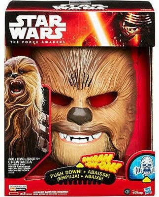Star Wars The Force Awakens Chewbacca Electronic Mask Roleplay Toy