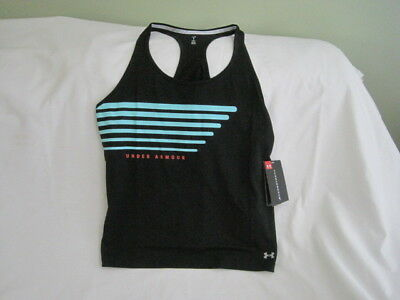 Under Armour Women's Large Black Mileage Graphic Loose Fit Tank NWT