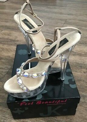 Johnathan Kayne Juno Size 6.5 Prom Pageant Shoes Sandals