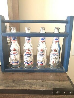 Limited Edition Richard Petty chrome Pepsi encased in original blue rack