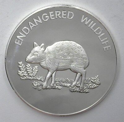 Endangered Wildlife Series 2005 10 Kwacha - Chevrotain - Perfect Proof Dcam