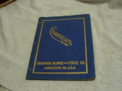 champion blower and forge co catalog