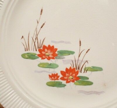 "Vintage American Limoges 10"" Dinner Plate VICTORY Pond Lily Pad RARE Replacement"