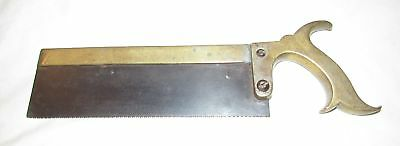 Maw London Surgeons saw solid brass handle brass back 19thC saw medical