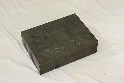 Vintage Pewter Hand Tooled Art Nouveau Style Jewellery Box - Cottage Craft, Kent