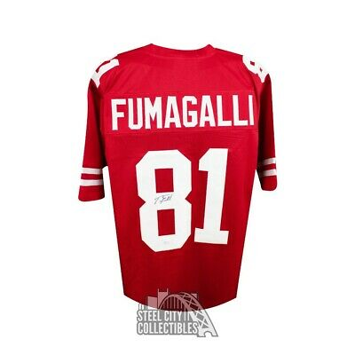 8342c9ee8 Troy Fumagalli Autographed Wisconsin Badgers Custom Red Football Jersey JSA  COA