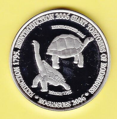 "Mauritius Silver-Medal ""Introduction of Giant Tortoises"" Proof"