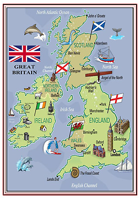 A4 Poster Sign Educational Nursery Children Kids Childminders Great Britain (2)