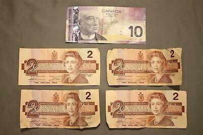 Mixed Lot of Unsorted and Uncounted Circulated Canadian Paper Currency