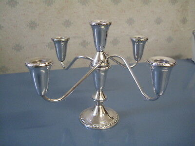 Sterling Silver Four Branch Candlelabra Total Weight 853 Grams Scrap Or Resell