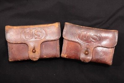 2X Authentic WWI RIA 1906 TC Belt Ammo Pouches For .30-06