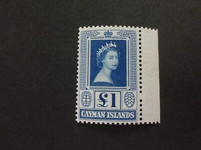 Cayman Islands 1959 £1 blue SG161a MNH** Mint Never Hinged sheet margin
