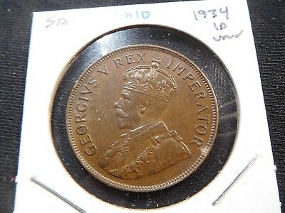 M10 South Africa 1934 Penny UNC
