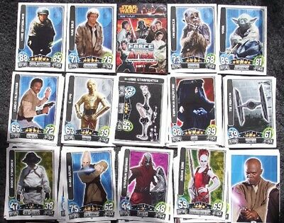 Bundle Lot of 70+ Star Wars Force Attax Series 3 Movie Cards Trading Cards 2013