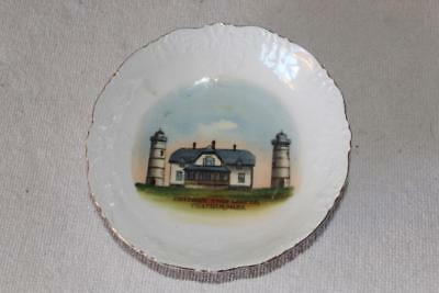John J. Howes CHATHAM MASS Twin Lights China Bowl Made in Germany c.1880