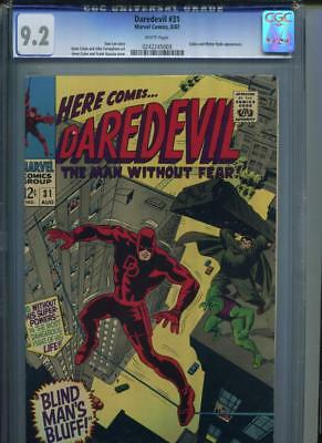 Daredevil #31 CGC 9.2 WHITE Pages Cobra and Mr. Hyde Appearance Lee Colan