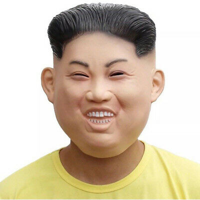 KIM JONG UN Costume Mask Celebrity Cosplay Full Face Halloween Party Masquerade