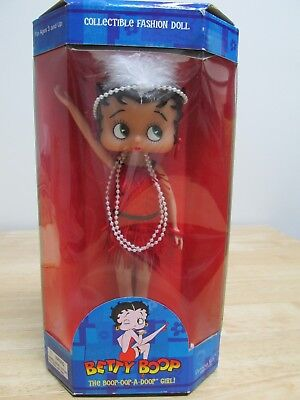 "Betty Boop Red Dress Flapper Doll 10"" Cartoon Icon New in Box"