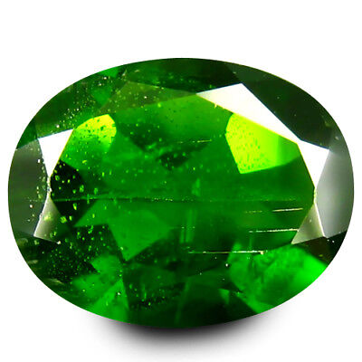 1.67 ct AAA Grade Exquisite Oval Cut (9 x 7 mm) Green Chrome Diopside Gemstone