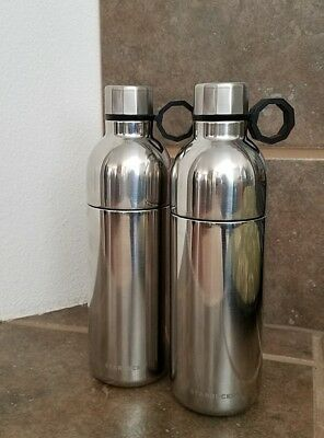 New One Starbucks Water Bottle Silver Double Wall Stainless Steel 20 Oz