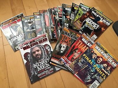 Walkind Dead Official Magazine Completed Set 1 To 22