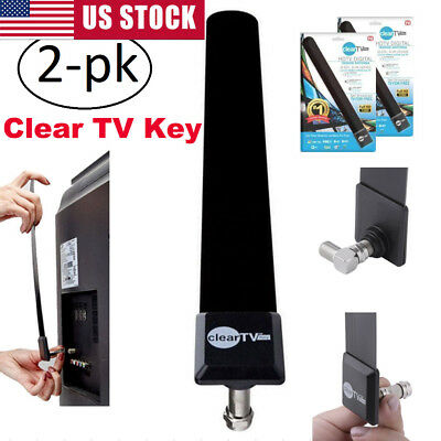 2x Slim HD Antena HDTV 1080p Digital Clear Free TV Signal Indoor Antenna Key