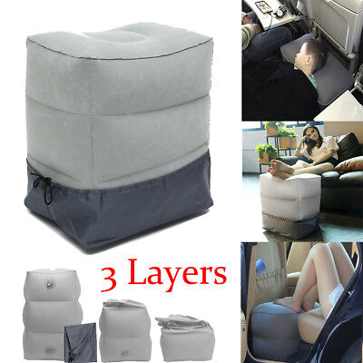 Inflatable Office Car Airplane Travel Footrest Leg Rest Pillow Cushion Kids Bed