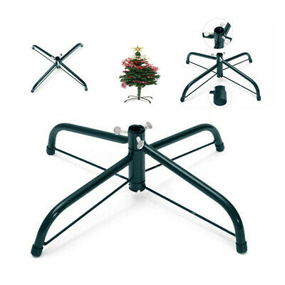 Black Metal Christmas Tree Stand Holder Base Cast Iron Stand Party Decor BS