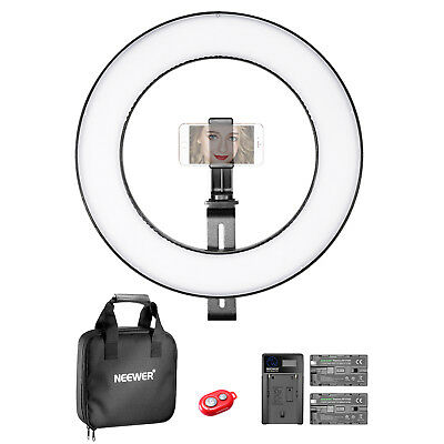 Neewer Photo 14-inch Outer Dimmable Bi-color SMD LED Ring Light Lighting Kit