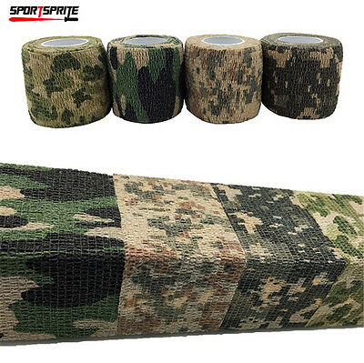 4.5M Tactical Outdoor Medical Bandage Camo Wrap Stealth Tape For Hunting Camping