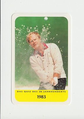 Golf : Jack Nicklaus : attractive German collectable game card