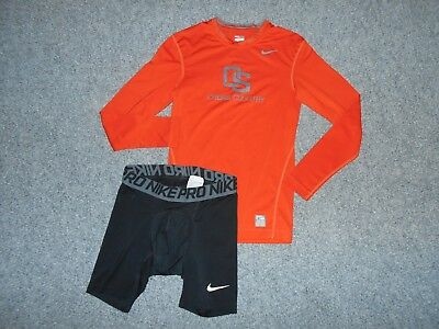 2 Nike Pro Compression Mens Small Ncaa Oregon State Shirt Shorts Lot