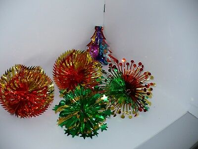 vintage 1980s christmas foil decorations ceiling hanging garlands lot m bw - 1980s Christmas Decorations