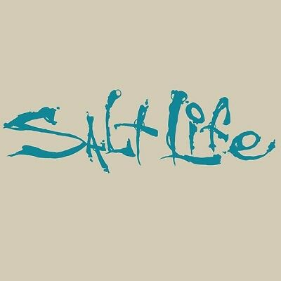 Salt Life Signature Large Decal Teal