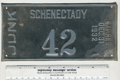 1932 Schenectady NY JUNK License Plate ,Number 42