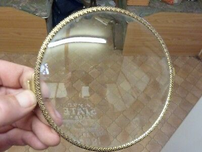 "Used Bracket-Mantle Clock 5 1/2"" Bezel With Convex Glass"