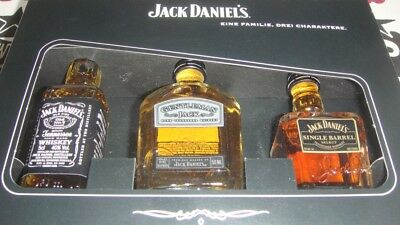 Rare Old Jack Daniel's Daniels Tennessee Whiskey 45% 40% Set Box Miniature Alt