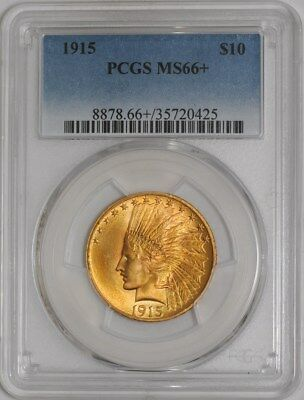1915 $10 Gold Indian #937441-4 MS66+ PCGS