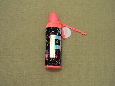 Nwt Justice Girls Paint Splatter Initial R Water Bottle