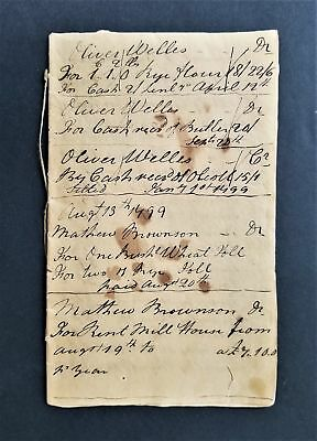 1799 antique GRIST MILL hartford ct ACCOUNT BOOK seymour