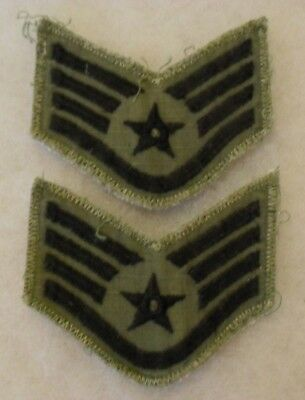 Great Vietnam Made Pair Of Air Force Chevrons 4 Stripes On Rip Stop Material