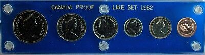 Canada Proof Like Set 1982 6 Coins Capital Coin Holder UNC RCM Coins