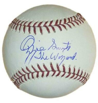 Ozzie Smith Autographed/Signed St Louis Cardinals OML Baseball Wizard JSA