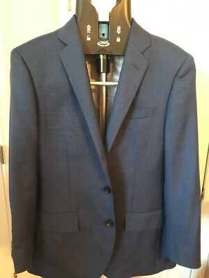 J Crew Sz.38S  Ludlow Suit Jacket In Italian Stretch Wool #g1109 Blue Altantic