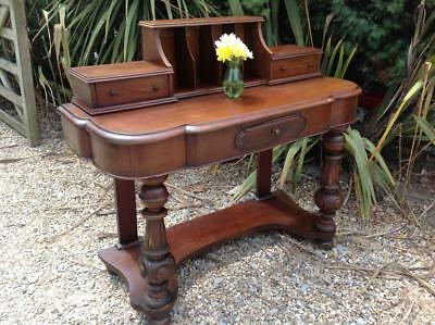 Antique Mahogany Writing Desk Victorian Small Desk /Grand Hall Table Rustic Chic