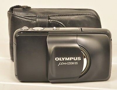 Olympus Mju Zoom 105 Black / Sucherkamera Range Finder Camera 38-105mm & Tasche