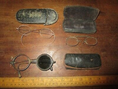 Collection of Antique Spectacles.Victorian Gold Rimmed Spectacles and others