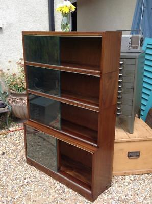 Vintage Library 'MINTY Oxford' Solid Mahogany Mid Century Modular Bookcase Chic