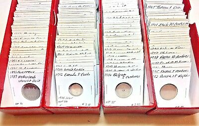 1800s-1900s World Lot of 150 Carded Coins with Silver, many BU-AU LOT #3